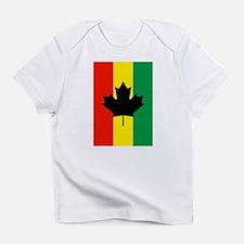 Rasta Reggae Maple Leaf Flag Infant T-Shirt