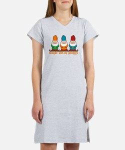 Cute Cartoon gnome Women's Nightshirt