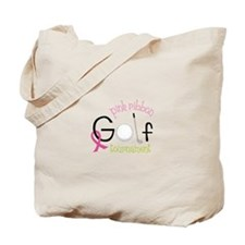 Pink Ribbon Tournament Tote Bag