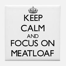 Cute Meatloaf Tile Coaster