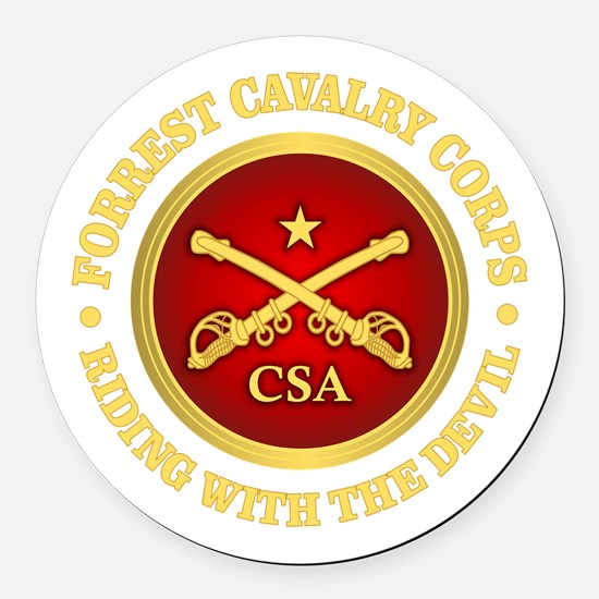 CSC-Forrest Cavalry Round Car Magnet