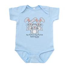 Hear No Evil Bunny Rabbits Body Suit