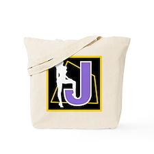 Naughty Initial Design (J) Tote Bag