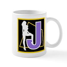 Naughty Initial Design (J) Mugs