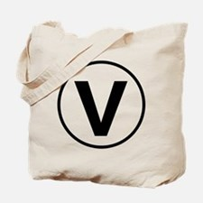 """V"" for VEGAN Tote Bag"