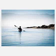 California, Morro Bay State Park, Woman Kayaking I