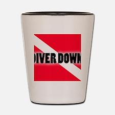 Diver Down Shot Glass