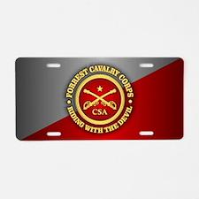 CSC-Forrest Cavalry Aluminum License Plate