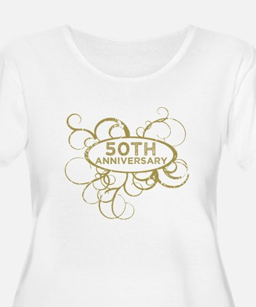 50th Wedding Anniversary Plus Size T-Shirt