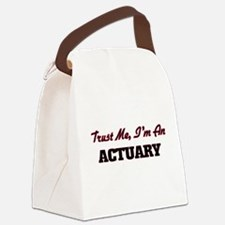 Cute Actuary Canvas Lunch Bag