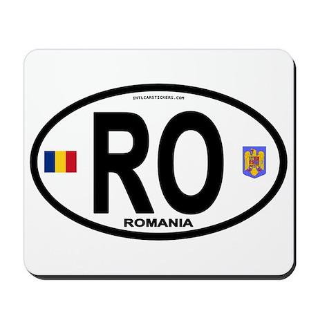 Romania Intl Oval Mousepad