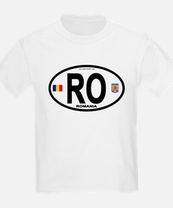 Romania Intl Oval T-Shirt