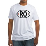 Romania Intl Oval Fitted T-Shirt