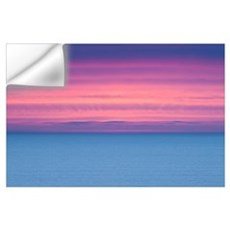Dramatic Sky At Sunrise Over A Deserted Ocean; Ire Wall Decal