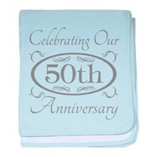 Funny 50th wedding anniversary baby blanket