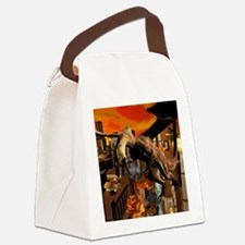Attack of a dragon Canvas Lunch Bag