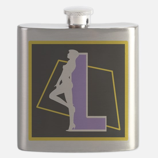 Naughty Initial Design (L) Flask
