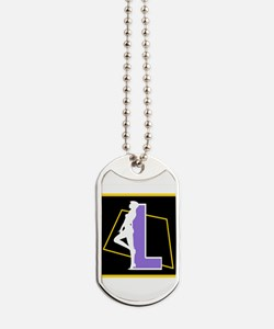 Naughty Initial Design (L) Dog Tags
