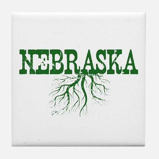 Nebraska Roots Tile Coaster