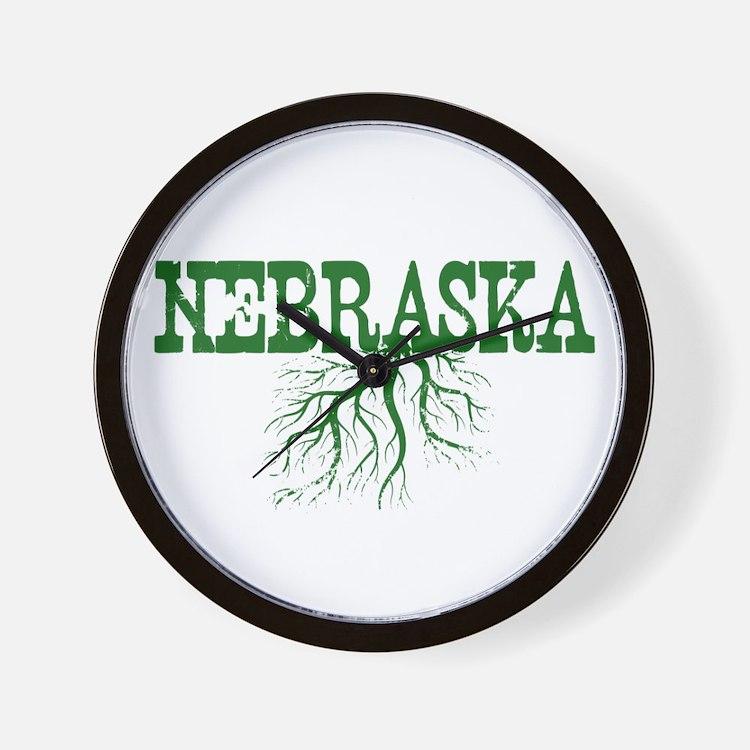 Nebraska Roots Wall Clock