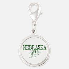 Nebraska Roots Silver Round Charm