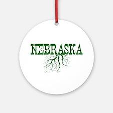 Nebraska Roots Ornament (Round)