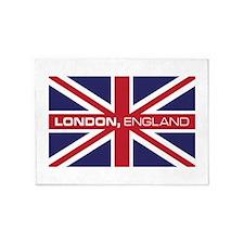 London,England 5'x7'Area Rug