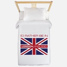 I'd Rather Be In London,England Twin Duvet