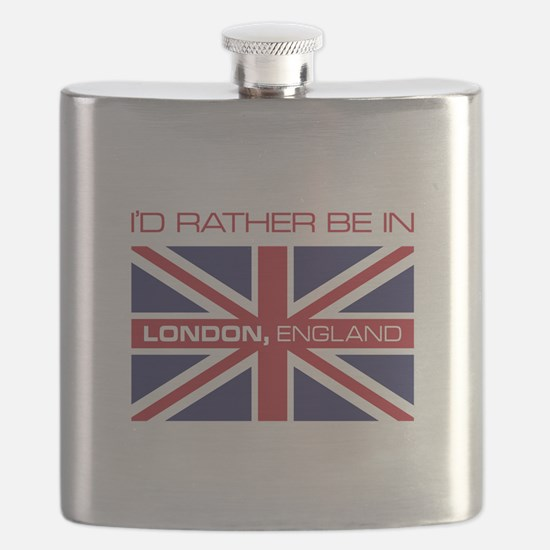 I'd Rather Be In London,England Flask