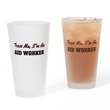 Funny Aid worker Drinking Glass