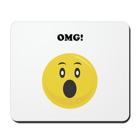 OMG Smiley Face Attitude Mousepad