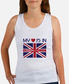 My Love Is In London,England Tank Top