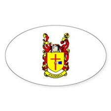 O'DONNELL Coat of Arms Oval Decal