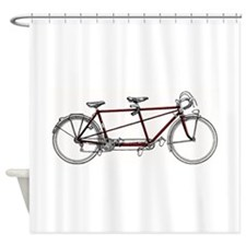 Cute Antique bicycle Shower Curtain