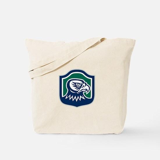 Falcon Head Side Shield Retro Tote Bag