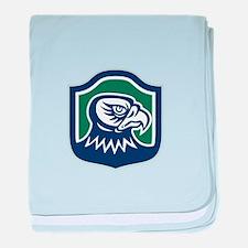 Falcon Head Side Shield Retro baby blanket