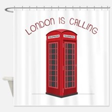 London is Calling Shower Curtain