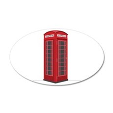 London Phone Booth Wall Decal