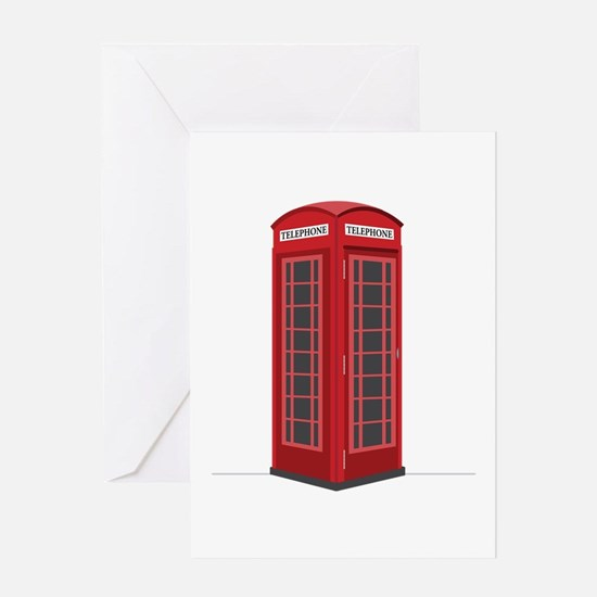 London Phone Booth Greeting Cards