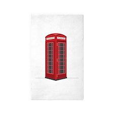 London Phone Booth 3'x5' Area Rug