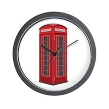 London Phone Booth Wall Clock