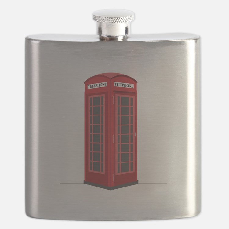 London Phone Booth Flask