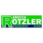 Rebecca Rotzler for President (sticker)