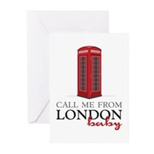 Call Me From London Greeting Cards