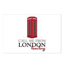 Call Me From London Postcards (Package of 8)