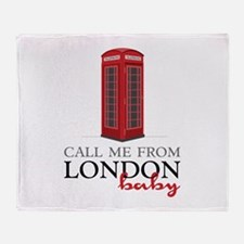 Call Me From London Throw Blanket