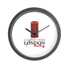 Call Me From London Wall Clock