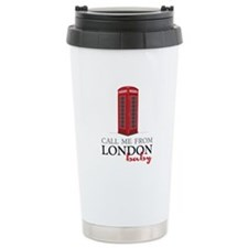 Call Me From London Travel Mug