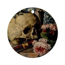 Vintage Skull Ornament (Round)