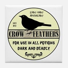 CROW FEATHERS Tile Coaster